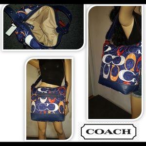 Coach Signature Legacy Multi Color Shoulder Bag